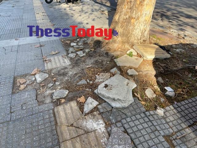 Νέα Εγνατία: Πεζοδρόμια και πινακίδες σε τραγική κατάσταση (ΦΩΤΟ), φωτογραφία-14