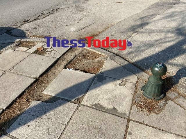Νέα Εγνατία: Πεζοδρόμια και πινακίδες σε τραγική κατάσταση (ΦΩΤΟ), φωτογραφία-13