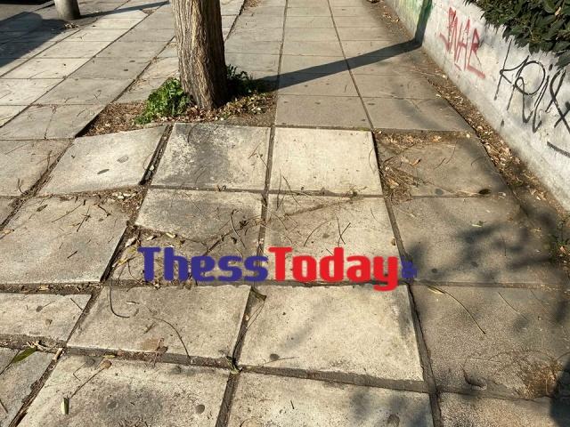 Νέα Εγνατία: Πεζοδρόμια και πινακίδες σε τραγική κατάσταση (ΦΩΤΟ), φωτογραφία-2